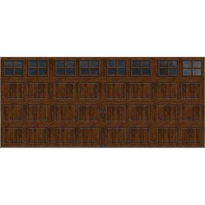 Gallery Collection 16 ft. x 7 ft. 6.5 R-Value Insulated Ultra-Grain Walnut Garage Door with SQ22 Window