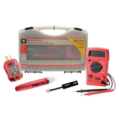 Electrical Test Kit (Digital Multi-Meter, Non-Contact, GFCI and Dual Phone Line Testers with Leads)