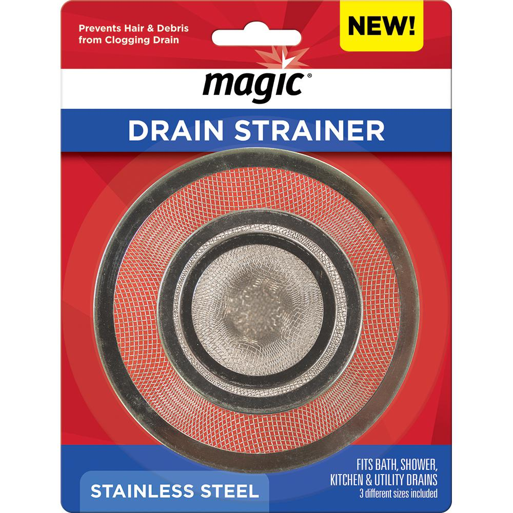 Magic Drain Strainer in Stainless Steel