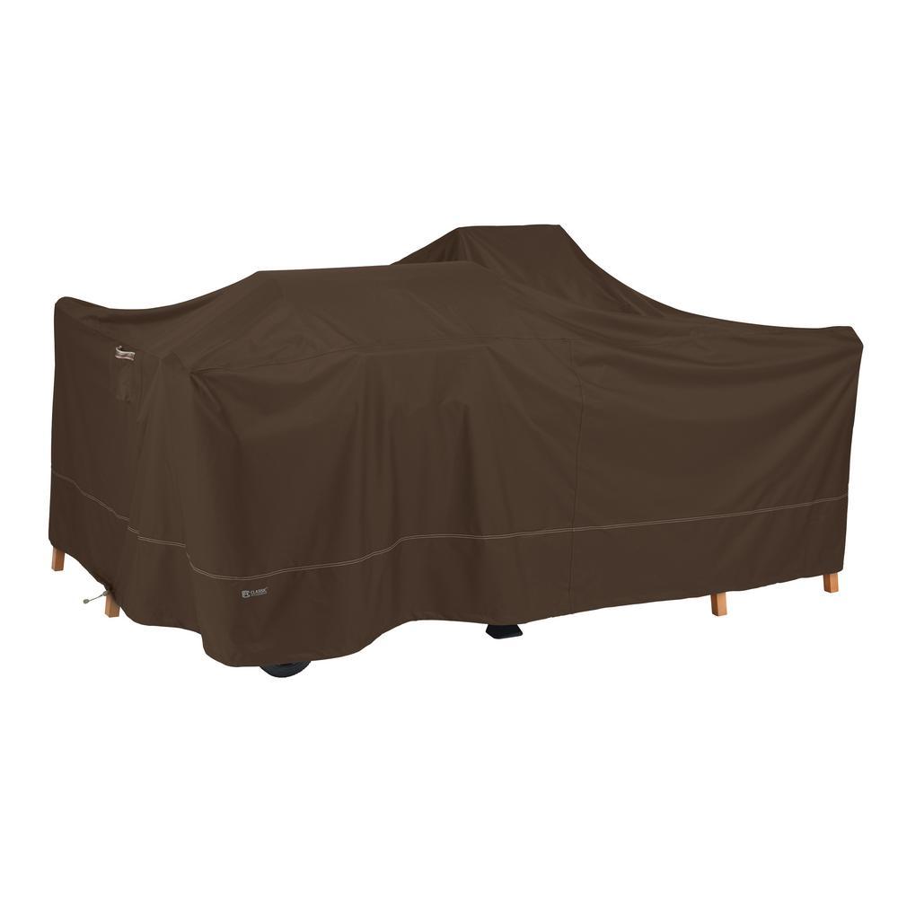 Madrona RainProof 125 in. L x 125 in. W x 36 in. H in Dark Cocoa General Purpose Patio Cover