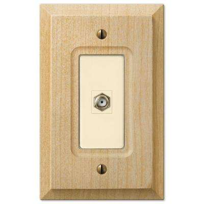 Baker 1 Coax Wall Plate - Unfinished Wood