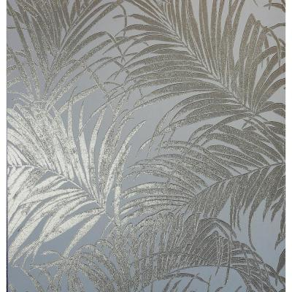 Palm Rose Gold Kiss Foil Non-Woven Wallpaper