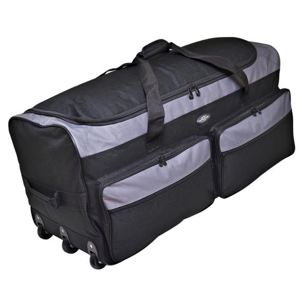 Polyester Rolling Wheeled Duffel Bag Travel Duffel on Wheel 36, Black