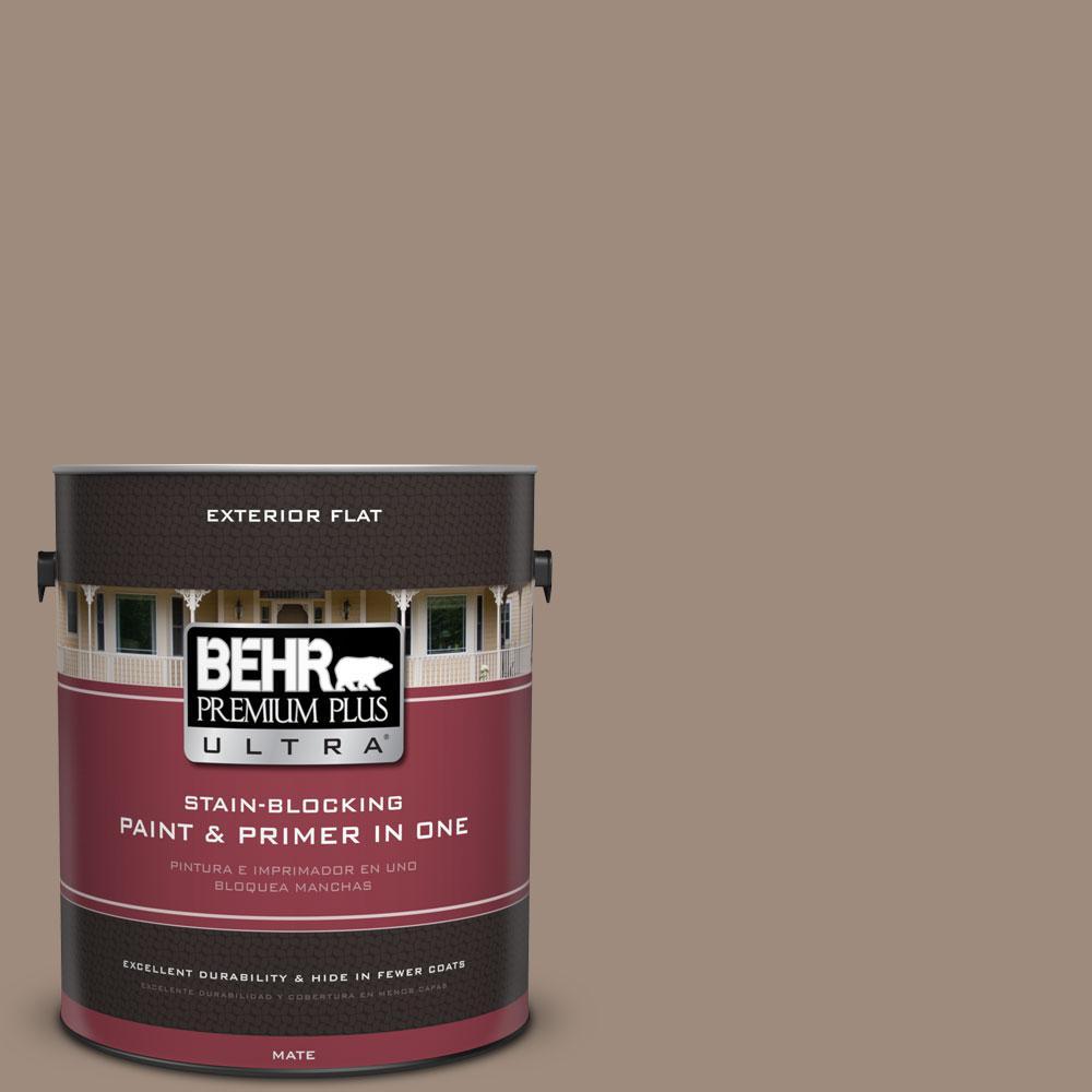 1-gal. #BXC-49 Smokey Tan Flat Exterior Paint