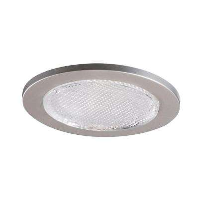 4 in. Satin Nickel Recessed Ceiling Light Lensed Shower Trim