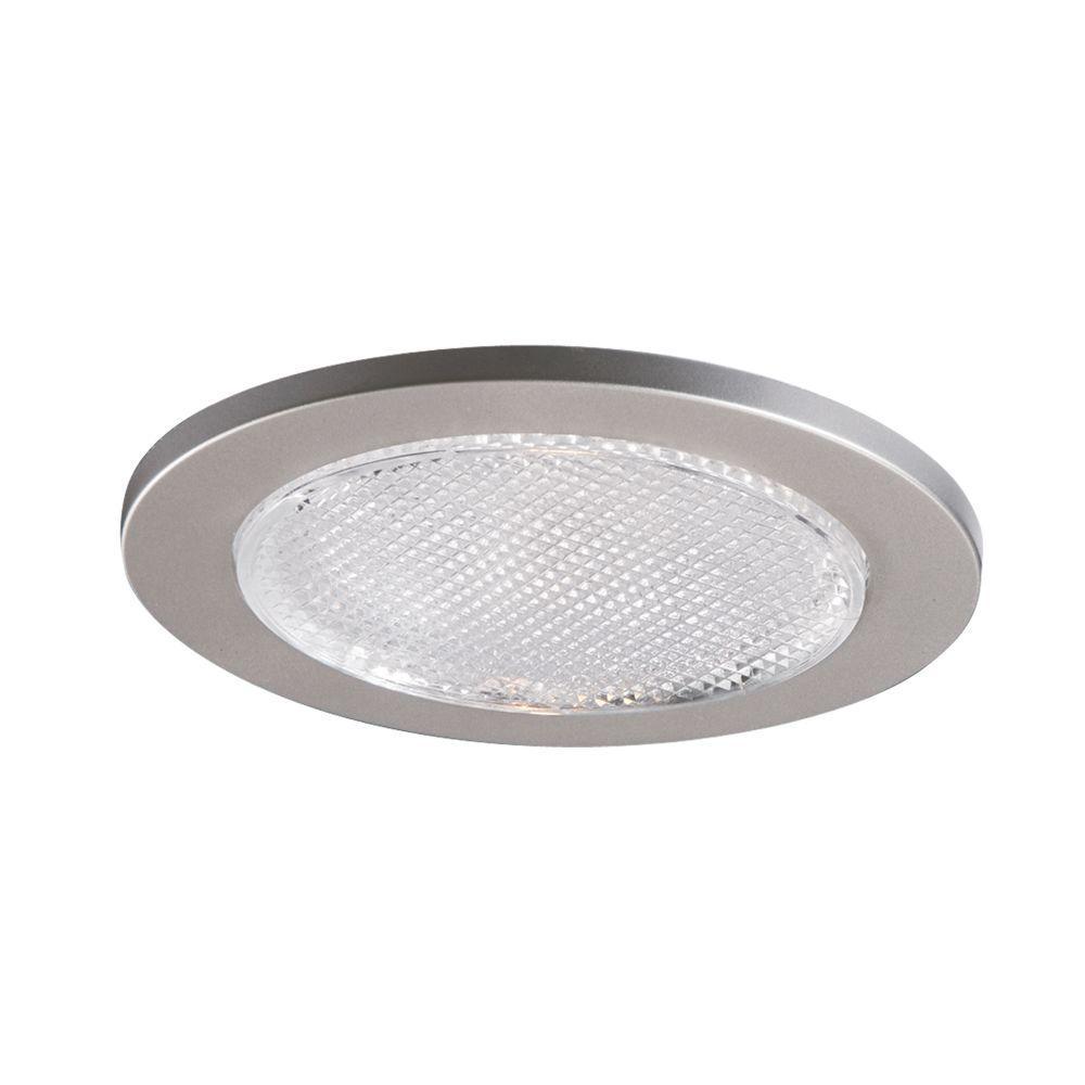 951 Series 4 in. Satin Nickel Recessed Ceiling Light Lensed Shower Trim