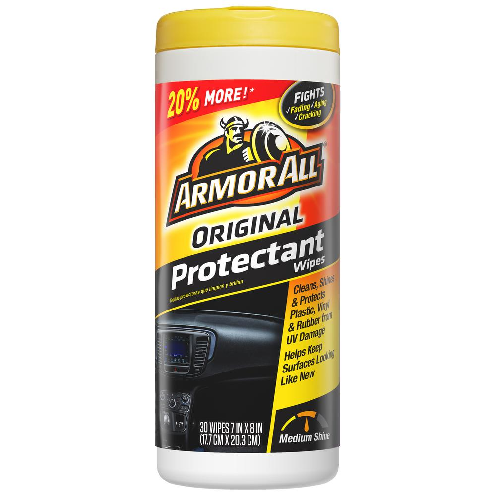 armor all protectant wipes 30 count 17496 the home depot. Black Bedroom Furniture Sets. Home Design Ideas