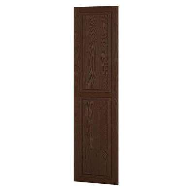 Solid Oak Side Panel for 21 in. D Executive Wood Locker in Dark Oak