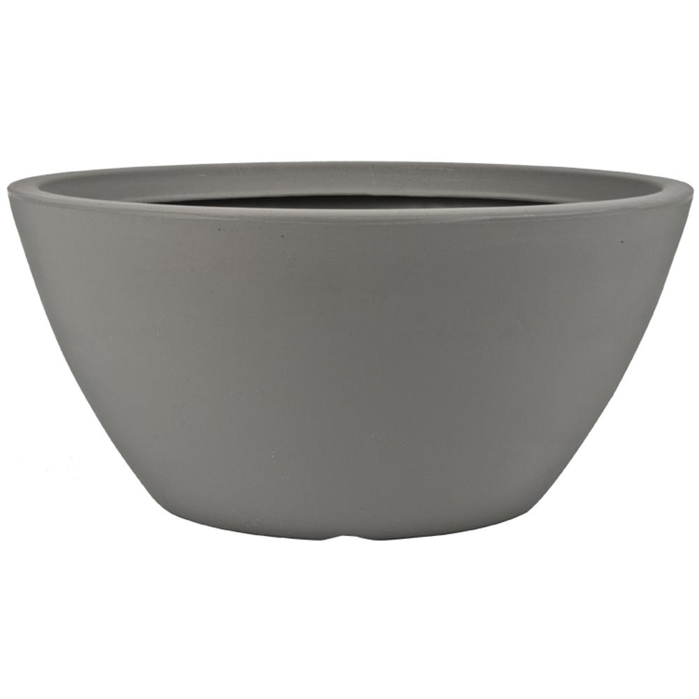 Pride Garden Products Toscana 18.5 In. Gray Plastic Bowl Planter