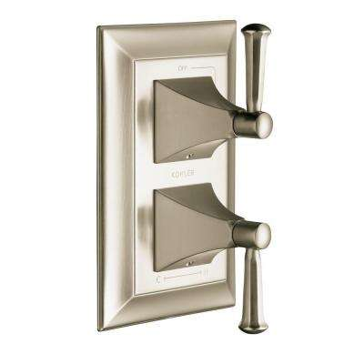 Memoirs 2-Handle Stately Valve Trim Kit in Vibrant Brushed Nickel (Valve Not Included)