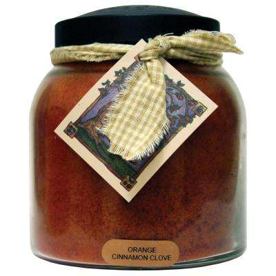 Orange Cinnamon Clove Glass Candle