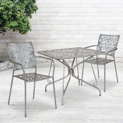 Green Square Metal Outdoor Bistro Table