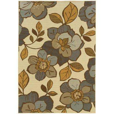 Island Cream 9 ft. x 13 ft. Indoor/Outdoor Area Rug