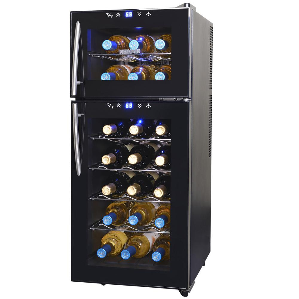NewAir 21-Bottle Thermoelectric Wine Cooler, Black