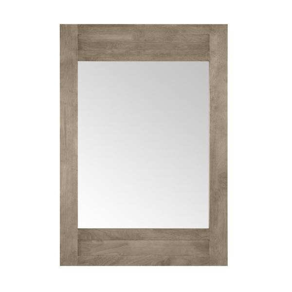 Aberdeen 40 in. x 28 in. Framed Wall Mount Mirror in Antique Oak