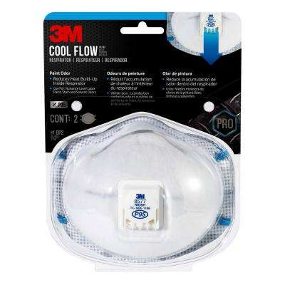 P95 Paint Odor Valved Respirator Mask (2-Pack)