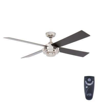 Kemper II 52 in. Indoor Liquid Nickel Ceiling Fan with Remote Control