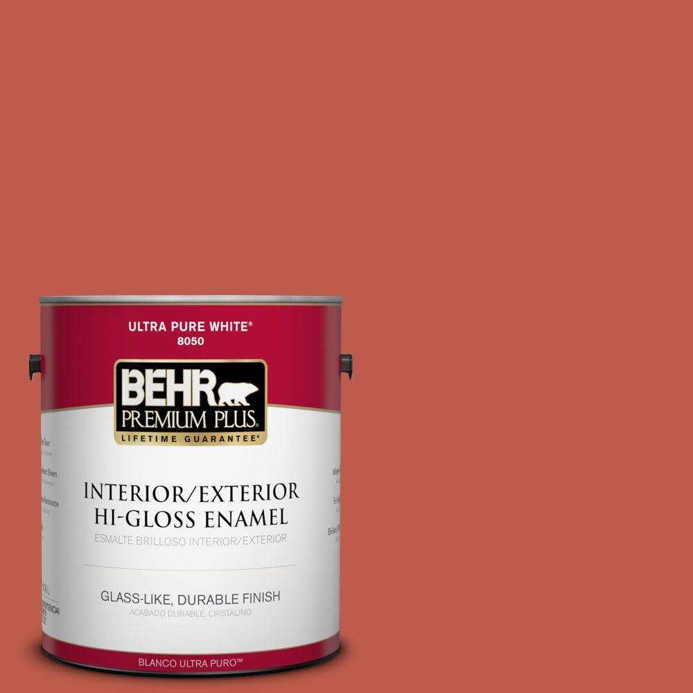 BEHR Premium Plus 1-gal. #200D-6 Mexican Chile Hi-Gloss Enamel Interior/Exterior Paint