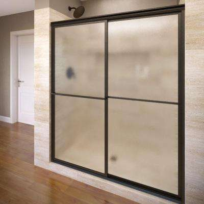 Deluxe 46-1/4 in. x 68 in. Framed Sliding Shower Door in Oil Rubbed Bronze