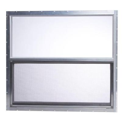 30 in. x 27 in. Mobile Home Single Hung Aluminum Window - Silver