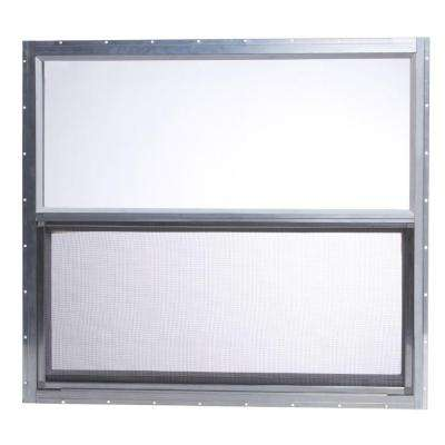 31.75 in. x 28.625 in. Mobile Home Single Hung Aluminum Window - Silver