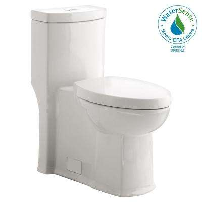 Boulevard Siphonic Tall Height 1-Piece Dual Flush Elongated Toilet in White