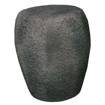 16.14 in. Tall Grey Versatile Natural Stone Outdoor MGO Round Stool/Table/Statue