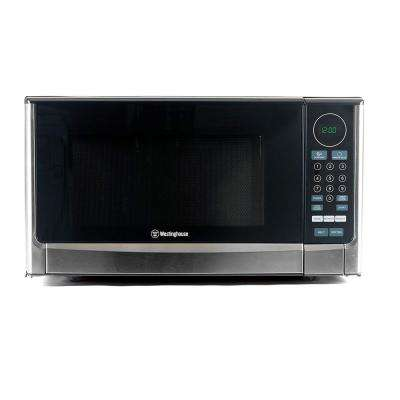 1.4 cu. ft. Countertop Microwave in Black with Stainless Steel Front
