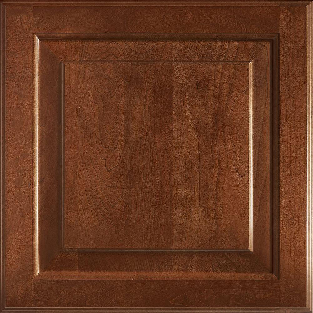 American Woodmark 14-9/16x14-1/2 in. Cabinet Door Sample in Charlottesville Cherry Spice