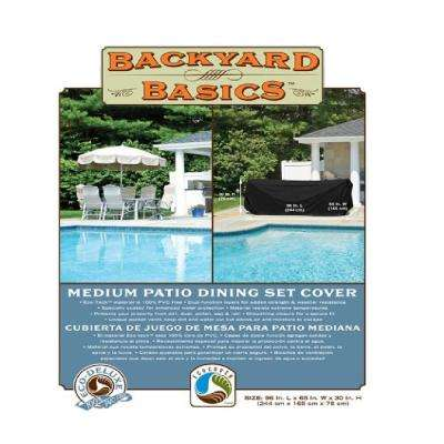 Backyard Basics 96 in. Black Patio Dining Eco-Seat Cover