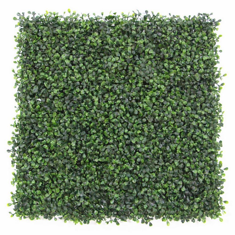 GorgeousHome Artificial Boxwood Hedge Greenery Panels, 20''x20''/pc (DarkGreen_12pc)