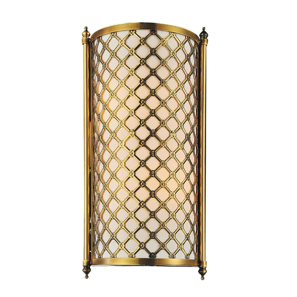CWI Lighting Gloria 2-Light French Gold Sconce