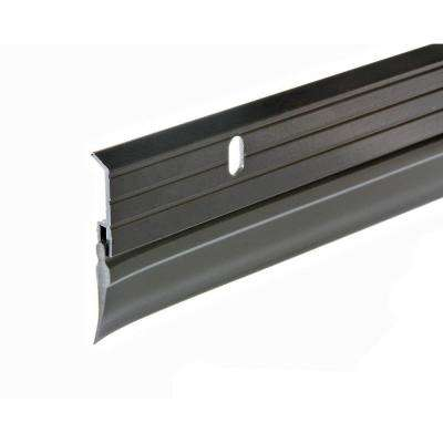 E/O 1-5/8 in. x 36 in. Aluminum Brown and Vinyl Door Sweep