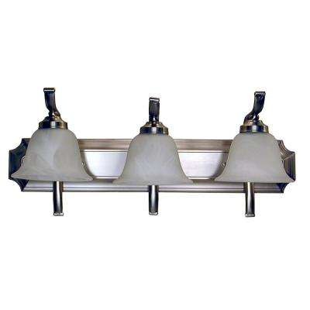 3-Light Satin Steel Bath Light