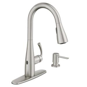 Essie Touchless Single Handle Pull Down Sprayer Kitchen Faucet With Motionsense Wave In Spot