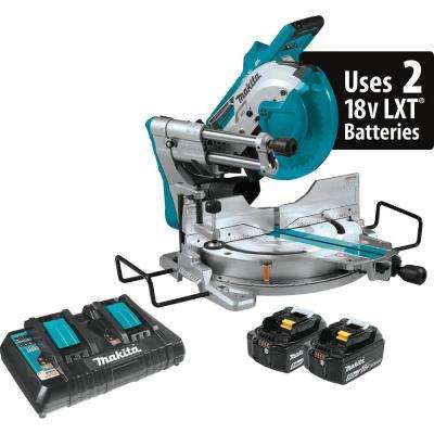 18-Volt X2 LXT Lithium-Ion 36-Volt Brushless Cordless 10 in. Dual-Bevel Sliding Compound Miter Saw Kit Laser 5.0 Ah