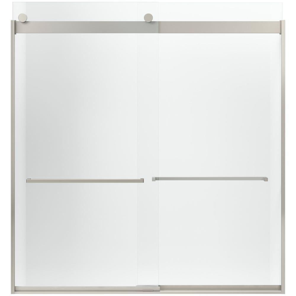 Levity 32-1/16 in. x 62 in. Shower Door in Nickel