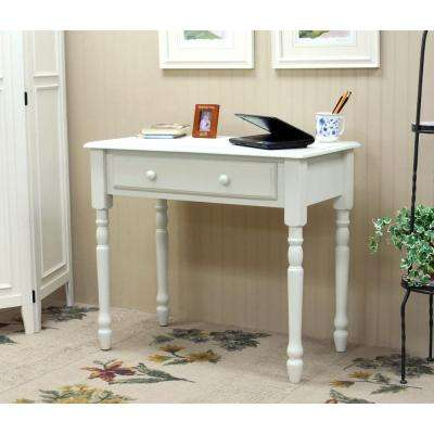 Bella Antique Ivory Desk With Keyboard Tray