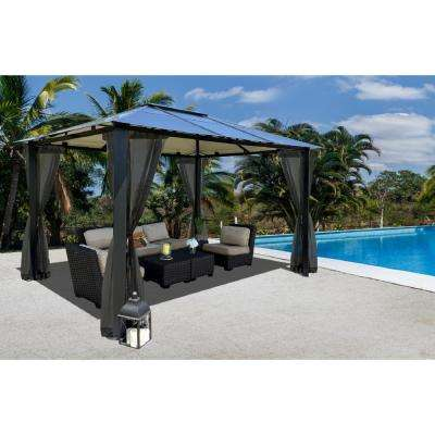 Paragon 10 ft. x 13 ft. Aluminum Hard Top Gazebo with Mosquito Netting