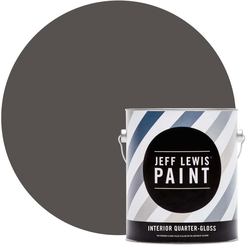 Jeff Lewis 1 gal. #112 Beaver Quarter-Gloss Interior Paint