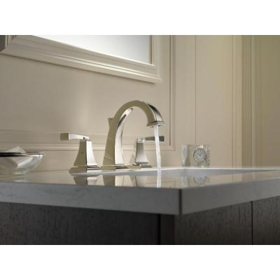 Dryden 8 in. Widespread 2-Handle Bathroom Faucet with Metal Drain Assembly in Polished Nickel