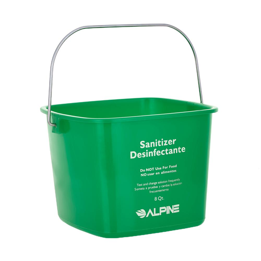Alpine Industries 8 Qt. Green Plastic Cleaning Bucket Pail