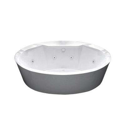 Sunstone 5.7 ft. Whirlpool Tub in White