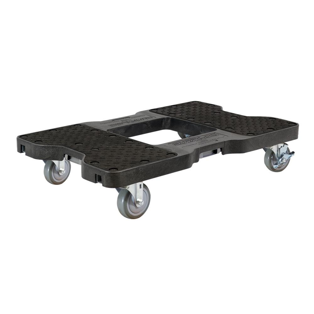 SNAP-LOC 1500 lb. Capacity Industrial Strength Professional E-Track Dolly in Black