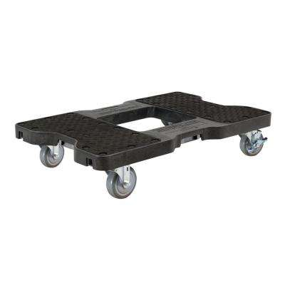 1500 lbs. Capacity Industrial Strength Professional E-Track Dolly in Black