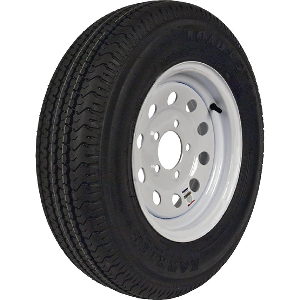 ST205/75R-14 KR03 Radial 1760 lb. Load Capacity White Without Stripe 14