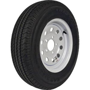 ST205/75R-14 KR03 Radial 1760 lb. Load Capacity White witho Stripe 14 inch Bias...