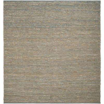 Rio Gray Blue 8 ft. x 8 ft. Square Area Rug