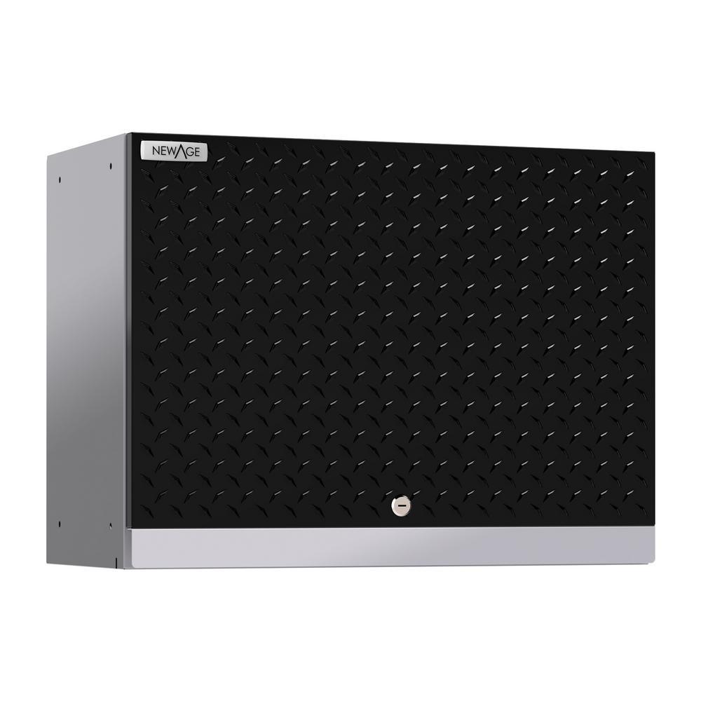 Performance Diamond Plate 2.0 18 in. H x 24 in. W x 12 in. D Steel Garage Wall Cabinet in Black
