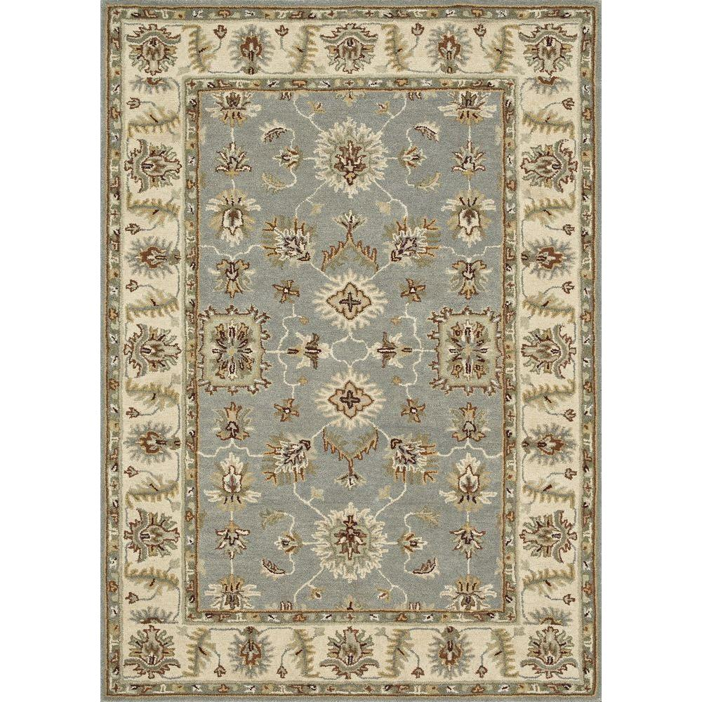 Loloi Rugs Fairfield Lifestyle Collection Slate/Cream 7 ft. 6 in. x 9 ft. 6 in. Area Rug